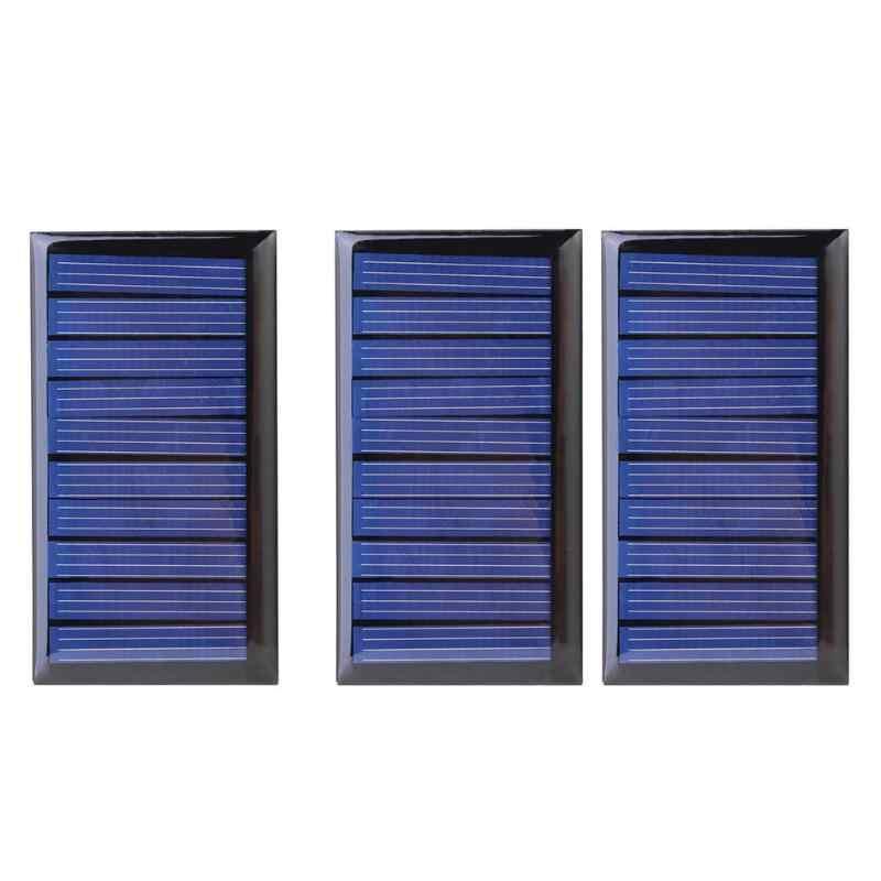 0.3 ワット 5 V 60mA ソーラーパネル多結晶太陽電池パネル 3.6 V バッテリー低消費電力アプライアンス 68*37*3 ミリメートル