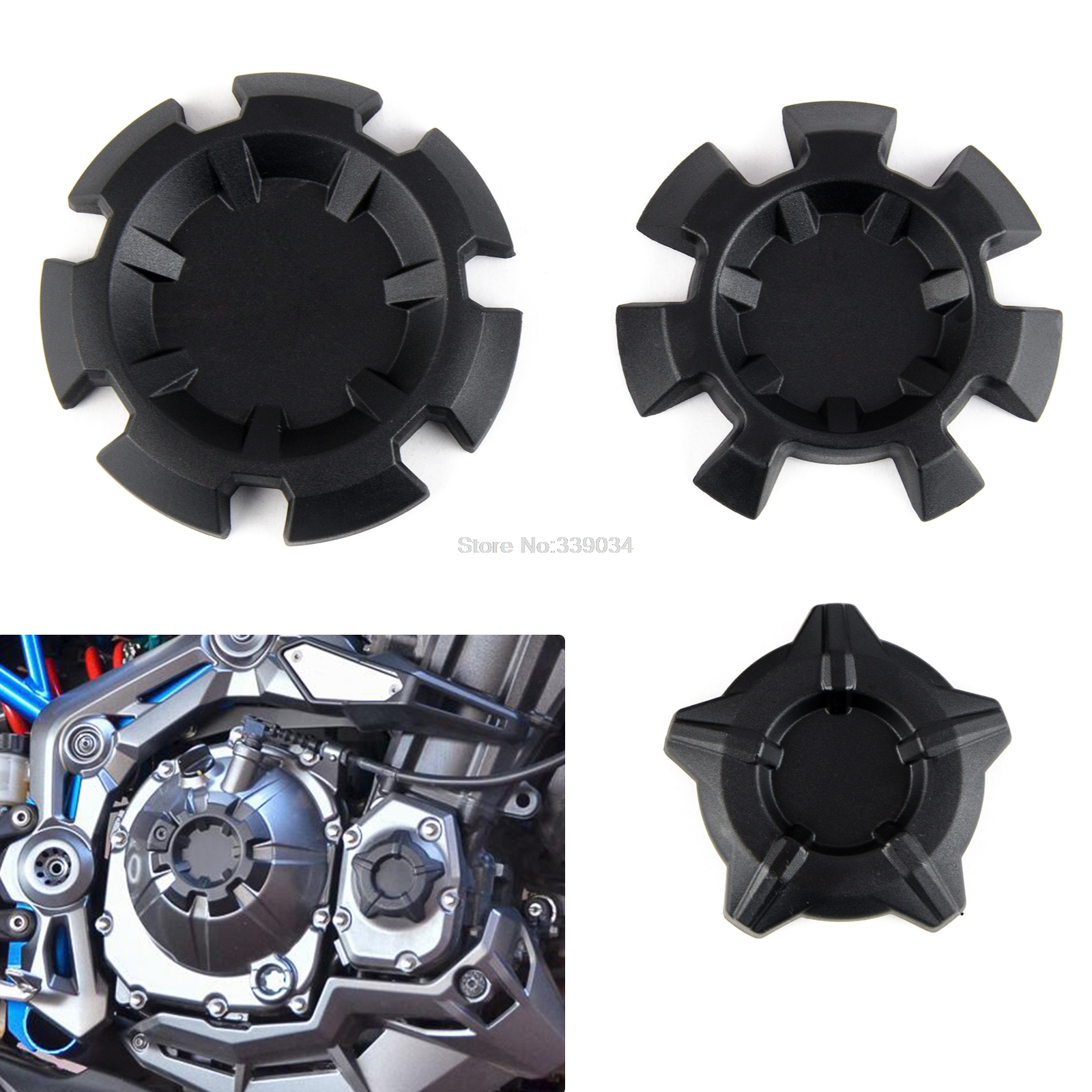 Motorcycle Engine Cover Protector Case Engine Timing Oil Filter Cover For Kawasaki Z900 ABS Z 900 2017 2018 Black engine oil filter cap screws for kawasaki z1000 z800 motorcycle accessories