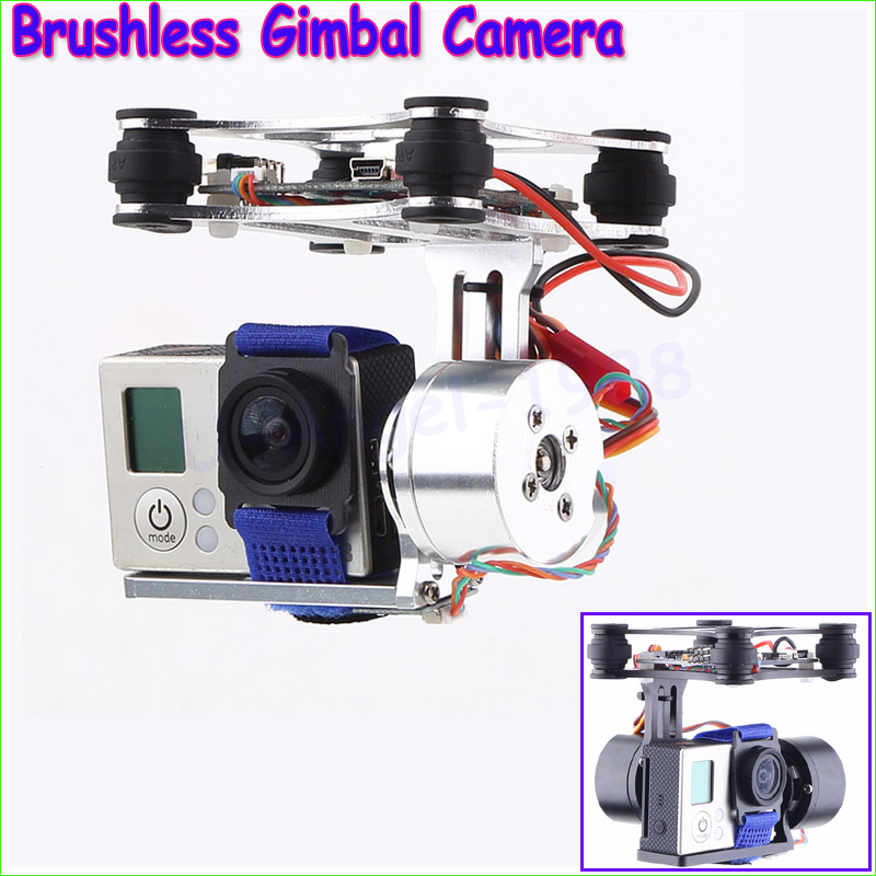 Brushless Gimbal Camera Mount w/ Motor & Controller for Gopro3 FPV Aerial Photography for  Phantom Free shipping tarot brushless gimbal camera mount gyro zyx22 for gopro 3 aerial photography multicopter fpv