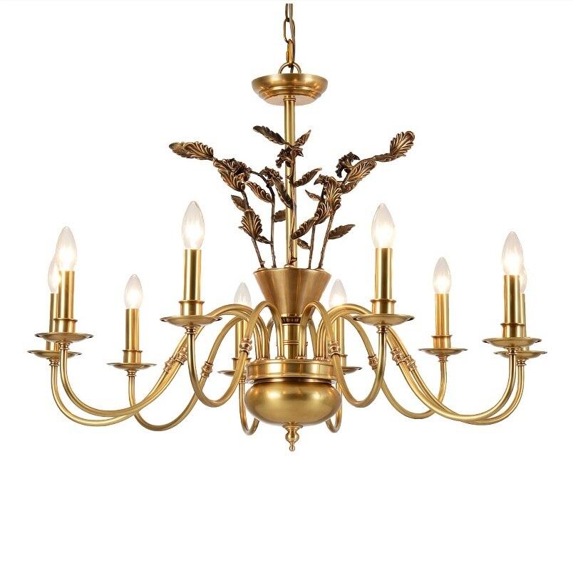 Baroque Brass Chandelier