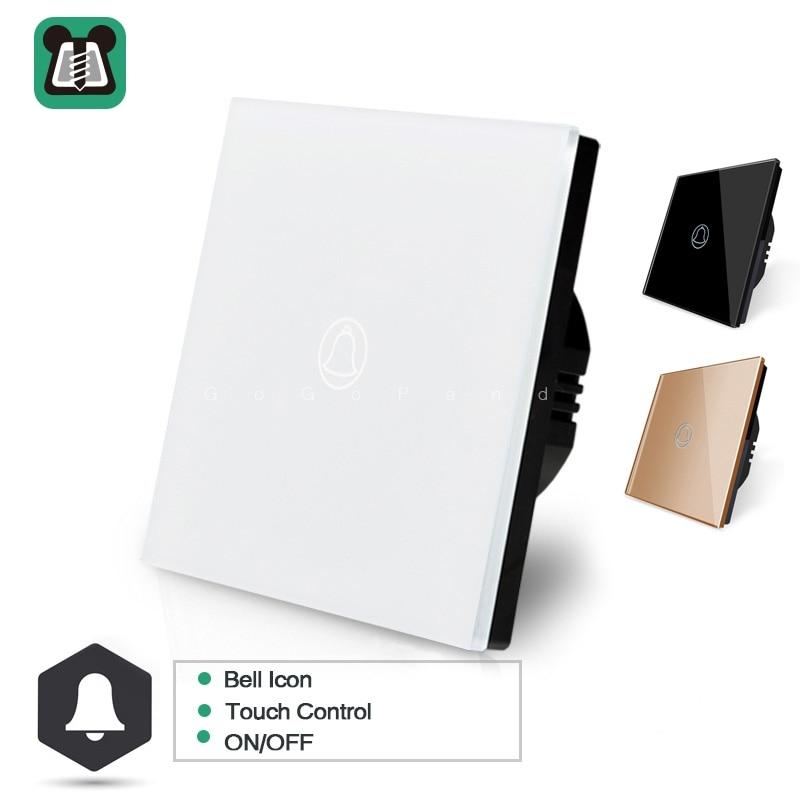 EU 1 Gang Doorbell Controller  Touch Switch Smart Home Automation Waterproof Switch 220vEU 1 Gang Doorbell Controller  Touch Switch Smart Home Automation Waterproof Switch 220v