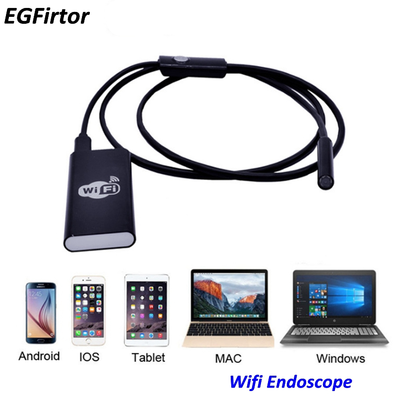 WIFI Endoscope Camera Mini Waterproof Soft Cable Inspection Camera 8mm USB Rechargable Endoscope IOS Android Endoscope For phone hard cable 720p wifi endoscope camera 8mm waterproof endoscope android ios smart phone endoscope pipe wi fi wi fi mini camera