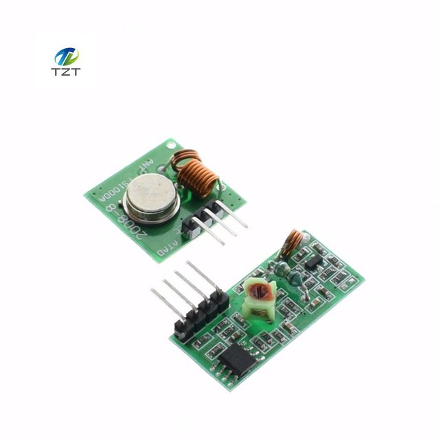 US $0 73 | Lowest Price!! 433Mhz RF transmitter and receiver kit for  Arduino Project Drop Shipping TK0460-in Integrated Circuits from Electronic