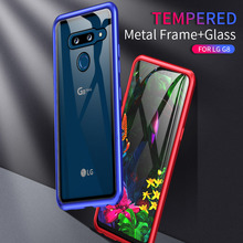 Manual Screw Install Metal Case For LG G8 Hybrid Clear Tempered Glass Phone Cases Hard Shockproof Armor Luxury Cover