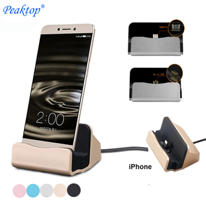 Peaktop Usb Type C Docking Station Type-C Dock Stand Charger Charging Cradle Holder For Xiaomi Mi 5 Mi5/Huawei P10 P9 iPhone 7 8(China)