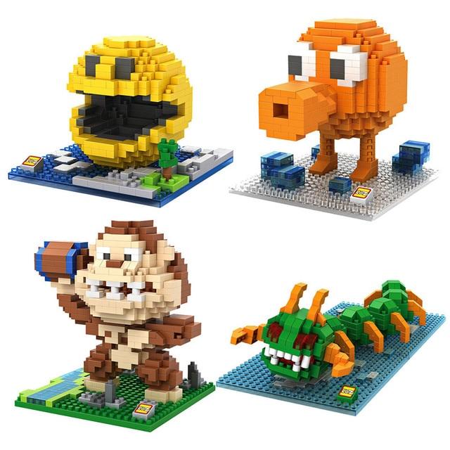loz blocks Pixels Pac-Man Q-bert kids toys building blocks kawaii mini  nanoblock Model gifts figures games for kids funny bricks 089e013a44c7