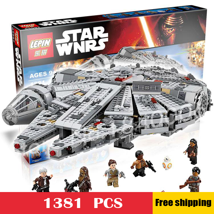 1381pcs Bela 05007 New Star Wars Millennium Falcon Model Building Kit Blocks Minifigures Bricks Playset Toy Compatible With Lego