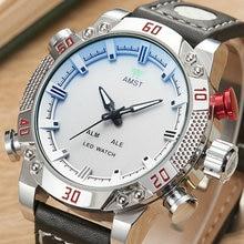 2016 Luxury Brand AMST Часы Мужчины Кварц Моды Часы СВЕТОДИОДНЫЕ Цифровые Часы Армии Армии, Военно-Спортивные наручные часы relogio masculino