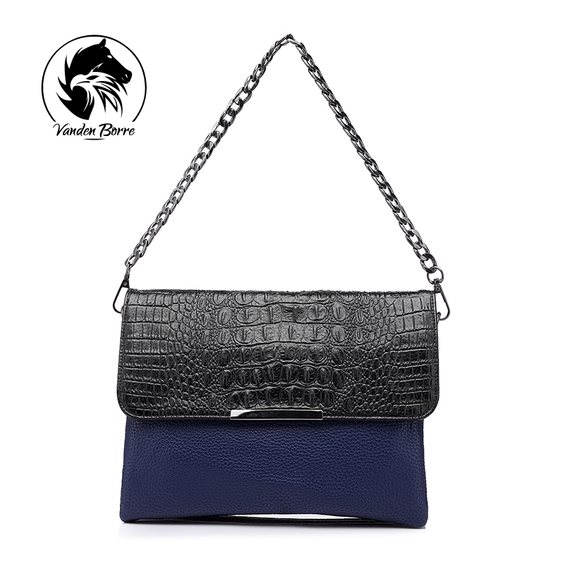 brand women alligator pattern clutches evening handbag artificial leather women shoulder bag female crossbody bags