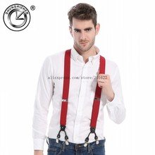 Hot Selling Men Suspenders, Mens Suit Braces, Gallus With 6 Clips, Wholesale/Retail