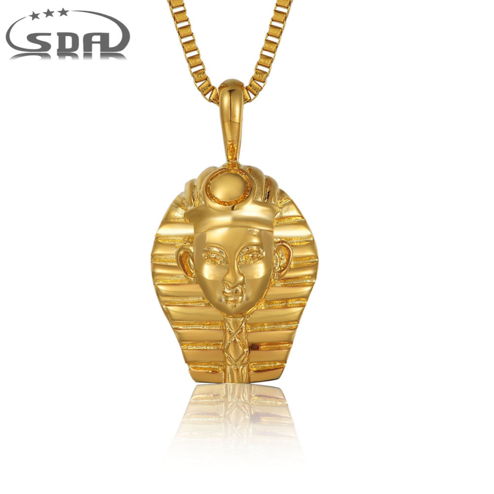 d78b7b7db658 SDA lujo real oro collar colgante collar 316l Acero inoxidable rey Colgantes  estilo punk rock joyería masculina p008