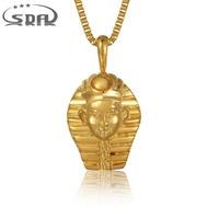 Sda אמיתי יוקרה צבע זהב שרשרת תליון 316l נירוסטה תכשיטי תליוני פאנק סגנון רוק זכר מלך p008