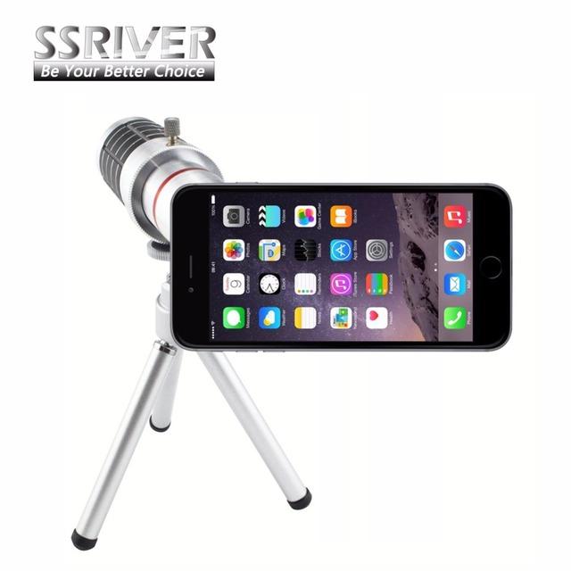 Ssriver 16x zoom óptico de cámara del telescopio trípode funda para apple iphone 6 plus gopro lente de teléfono