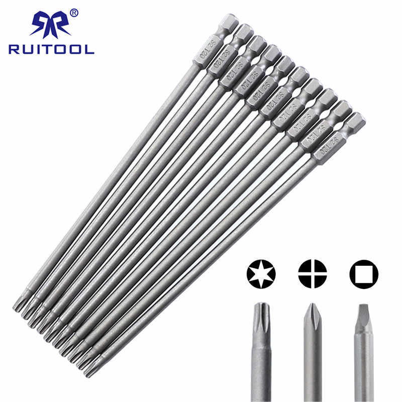 "150mm Screwdriver Bit Set S2 Thép Phillips Vuông Torx Magnetic Screwdriver Bits Đối Với Pocket Lỗ Jig 1/4 ""Hex shank"