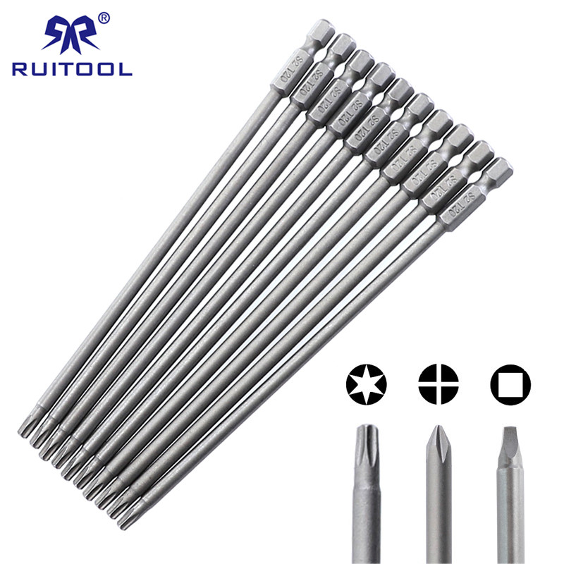 150mm Screwdriver Bit Set S2 Steel Phillips Square Torx Magnetic Screwdriver Bits For Pocket Hole Jig 1/4