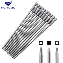 "150mm Screwdriver Bit Set S2 Steel Phillips Square Torx Magnetic Screwdriver Bits For Pocket Hole Jig 1/4"" Hex Shank(China)"