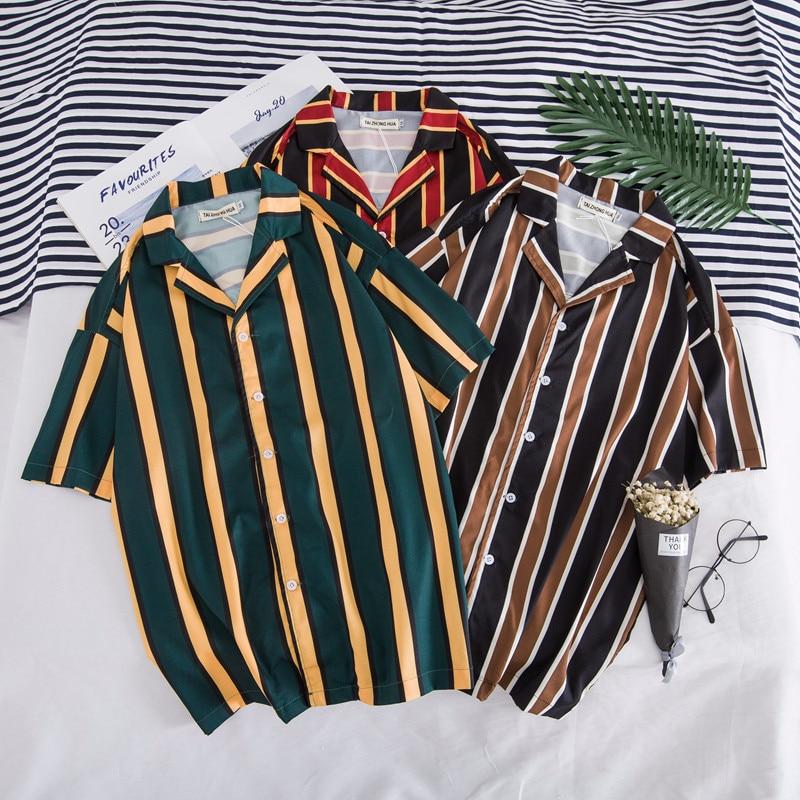 Oscn7 2019 Casual Printed Short Sleeve Shirt Men Street 2019 Hawaii Beach Women Fashion Short Sleeve Shirts Harujuku Mens 405
