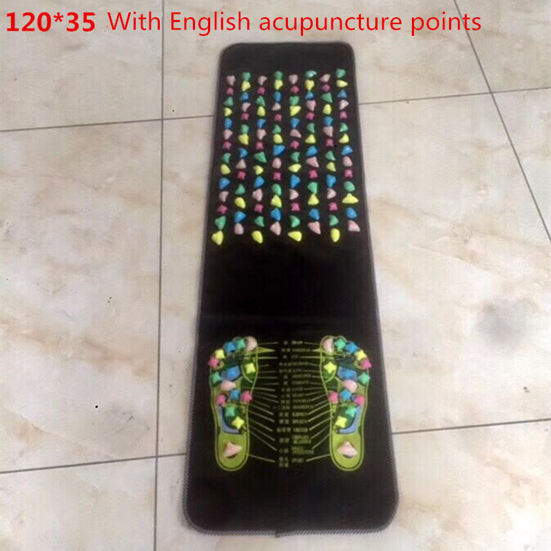 Hot Sale Colorful Plastic Foot Massager Pad Reflexology Walk Stone Acupressure Mat Pad Massageador for Foot Leg Pain Relief ion cleanse foot spas for sale