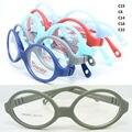 Оптовая много 3563900 ребенок лучших TR90 овальные очки кадров с регулируемым клип на ремень детские оптические frame бесплатная доставка