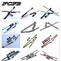 Fast Shipping Sale Hot 2015 FCFB Red Carbon Handlebar Set Mtb Bike Handlebar Seatpost Stem 1