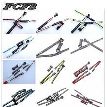 fast shipping sale hot 2015 FCFB red  carbon handlebar set mtb bike handlebar + seatpost + stem +  1 lot higher caps bike parts