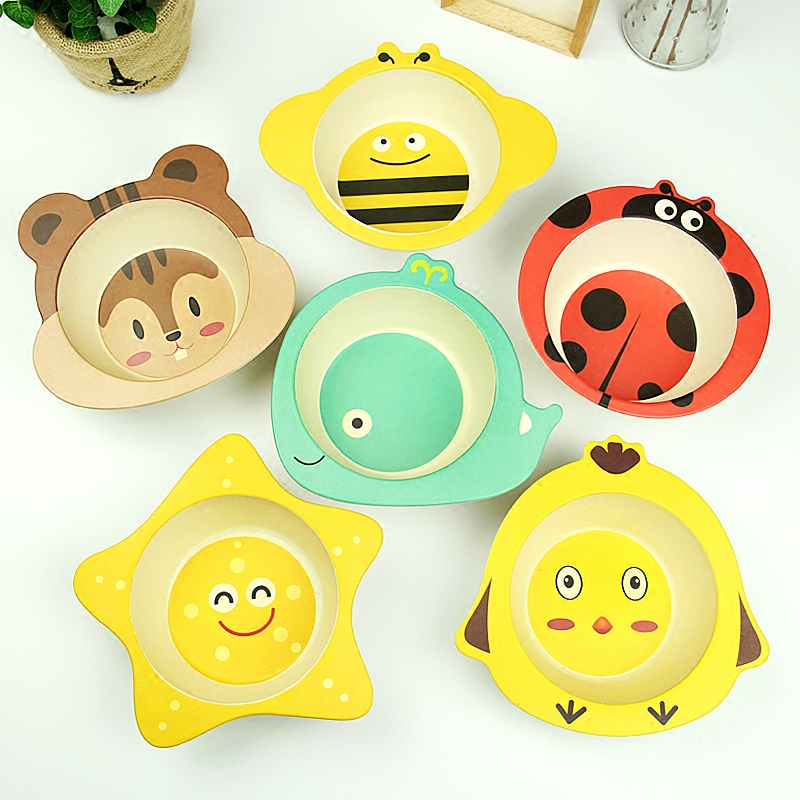 Baby Bowl Nature Material Safe kids dinner Bowl Bamboo Bowl for kids