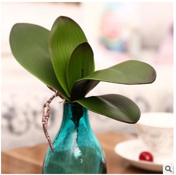 Hot sale artificial green butterfly orchid leaf plastic for Arranging accessories