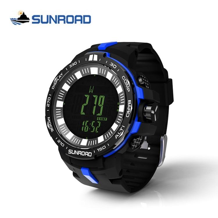 Relojes SUNROAD para Hombre de marca superior Reloj deportivo de lujo Digital altímetro barómetro brújula termómetro podómetro Reloj Hombre-in Relojes deportivos from Relojes de pulsera    1