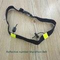 Das mulheres dos homens unisex lgfd triathlon maratona número flexível reflexivo cinto de corrida com suporte de gel execução elástico cinto de lona