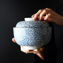 4,5 дюймов/6,5 дюймов керамическая крышка чаша под глазурованной цветной суп чаша японский стиль Керамическая пиала для риса тушеная мисо супница