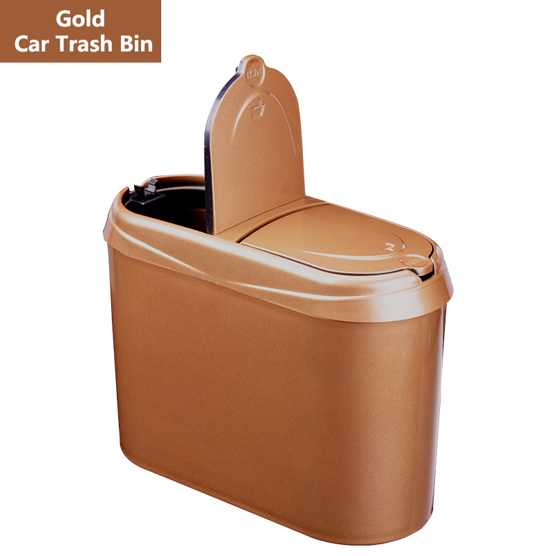 Trash-Bin Automotive-Waste-Storage Auto-Products Car-Pressing-Type Car-Garbage New Smart