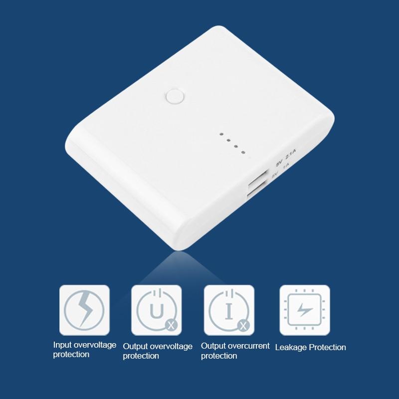 imágenes para Compacto de Peso Ligero 5000 mAh Doble USB Portable Power Bank Batería Externa Cargador Para Smartphone
