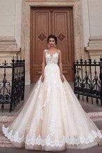 2017 new handmade applique wedding romantic sexy lace robe De Mariage Vestido De Noiva pure XC142 unbacked bride wedding dress