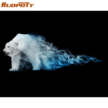 RUOPOTY Frame Bear DIY Painting By Numbers Animals Kit Picture By Numbers Abstract Modern Wall Art Picture For Home Decoration(China)