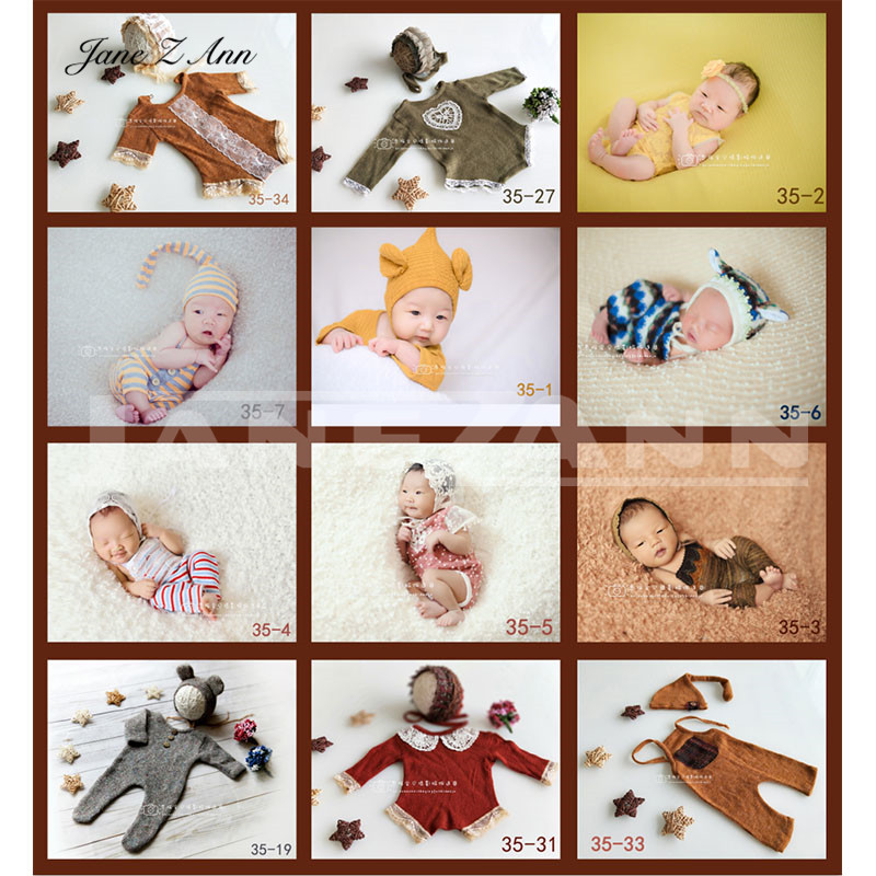 Boys' Baby Clothing Jane Z Ann Baby Photography Accessories Infant Toddler Monkey Sheep Cat Rabbit Mermaid Costume 4-12month Photo Studio Shoot Prop