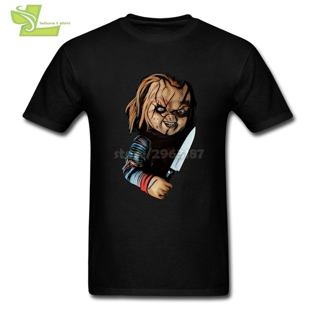 10ba6042 Childs's Play Seed of Chucky Slim Fit T Shirts Man Crewneck Short Sleeved  Clothing Comfort Funny Tees