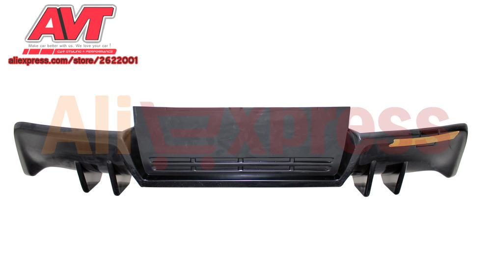 Aerodynamic pad for Mitsubishi Lancer X 2007-2017 with 2 hole and keels for the exhaust pipe on rear bumper car styling sport