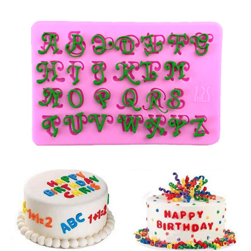 Alphabet Letters 3D <font><b>Silicone</b></font> <font><b>Cake</b></font> <font><b>Mold</b></font> <font><b>Fondant</b></font> Chocolate Mould <font><b>Cake</b></font> <font><b>Mold</b></font> Pudding Dessert <font><b>Decoration</b></font> Mould <font><b>fondant</b></font> Craft <font><b>Mold</b></font> image