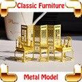 Новый DIY подарок классический китайский мебель 3d-модель здания комплекты металл модель DIY игрушки крошечный ручная коллекция произведений искусства для украшения