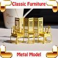 New DIY presente clássico mobiliário chinês 3D Model Building Kits de Metal modelo DIY brinquedos minúsculo Handwork coleção de arte para decoração