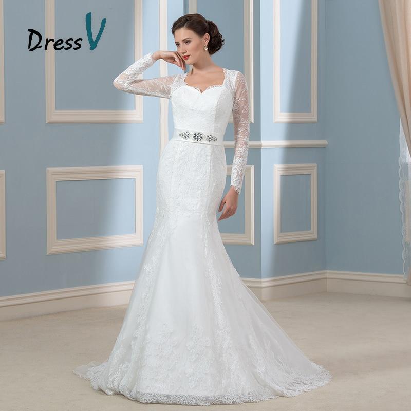 Gorgeous long sleeves mermaid wedding dresses 2017 lace for Long sleeve mermaid wedding dresses 2017