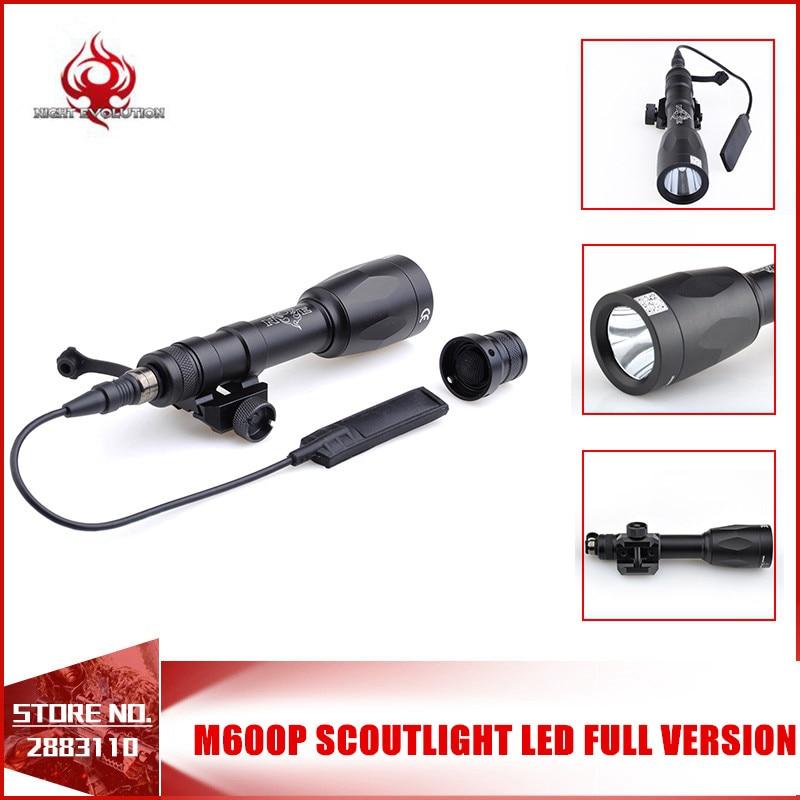 Night Evolution Tactical Weapon Light M600P Scout light LED Gun Tactical Flashlight Laser 679 Lumens Switch Controller NE04027