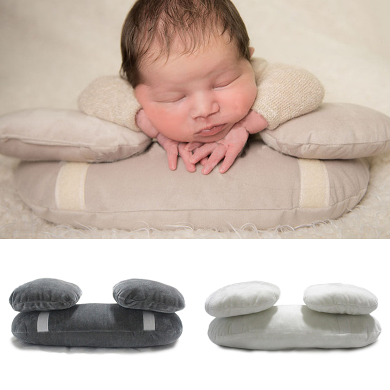 2018 Baby Photo Shoot Posing Pillows Baby Props 3 PCS/Set Baby Photography Costume Newborn Photography Props Fotografia Beanie