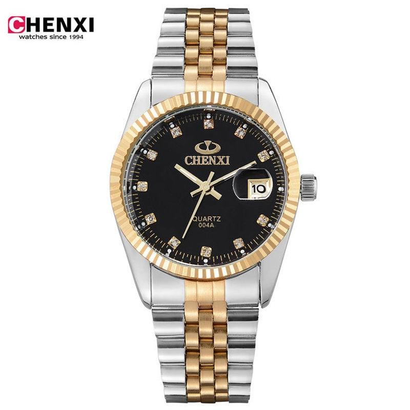 Brand Men's watches dress quartz watch men steel band Diamond dial quartz-watch Fashion Business clock relogio masculino стоимость