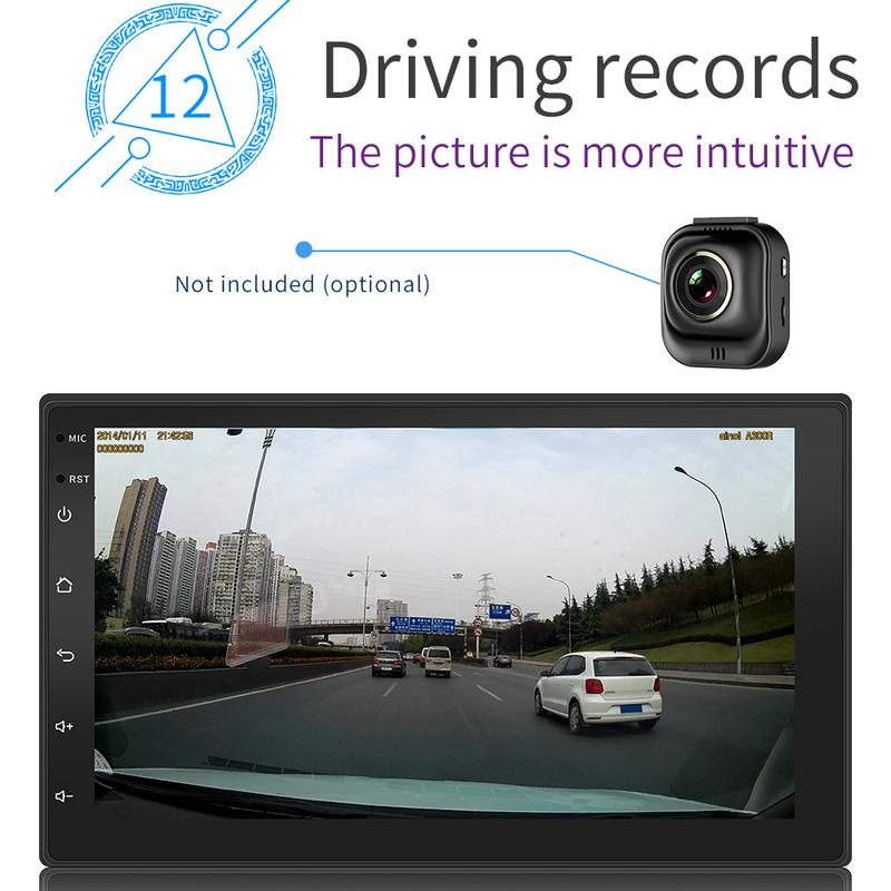 Android 8.1 System 16g Memory Touch Screen 7 Inch Hd Car Bluetooth Mp5 Player Button 2 Din Universal Gps Navigation Wifi #5