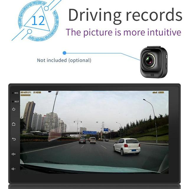 Android 8.1 System 16G Memory Touch Screen 7 Inch HD Car Bluetooth MP5 Player Button 2 DIN Universal GPS Navigation WIFI