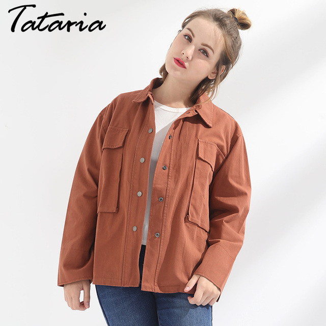 Designer Clothes For Larger Ladies | Jacket Coat Women Outerwear Cotton Causal Designer Jacket Chaquetas