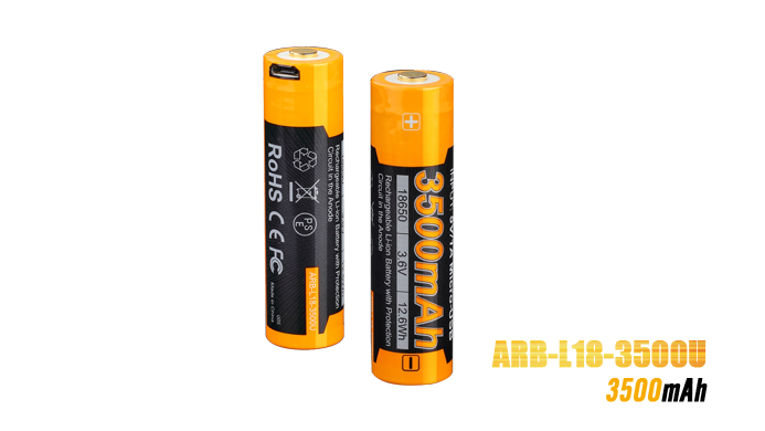 1 PCS Fenix ARB-L18-3500U USB Rechargeable 3500mAh Rechargeable Li-ion Battery