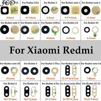 Стекло для камеры JCD для Xiaomi Redmi Note 2, 3, 4, 5, 4x, 5A, Redmi 3, 4, 4A, 6 Pro, 5Plus, стекло для объектива задней камеры + наклейки, запчасти для ремонта