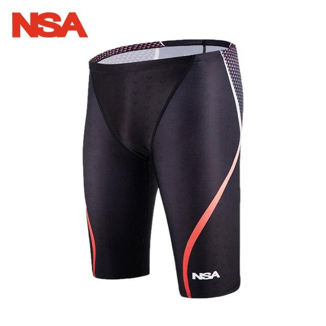 4572a53387 NSA Swimming Jammer Men Swimwear Shorts Quick Dry Men's Swimsuit  Professional Men Competitive Swim Trunks SharkSkin